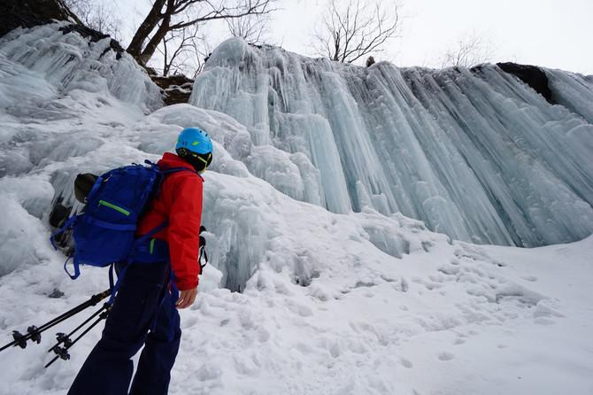 雲竜渓谷の氷瀑