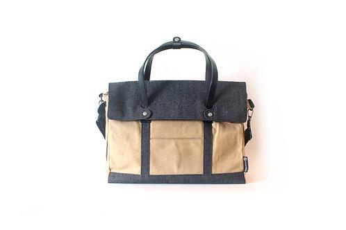 Denim & Waxed Canvas Messenger Bag