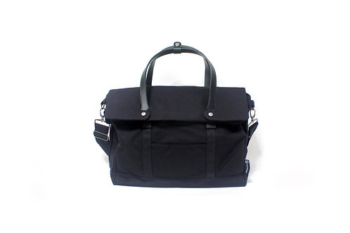 Waxed Canvas Messenger Bag 2.0 - Black