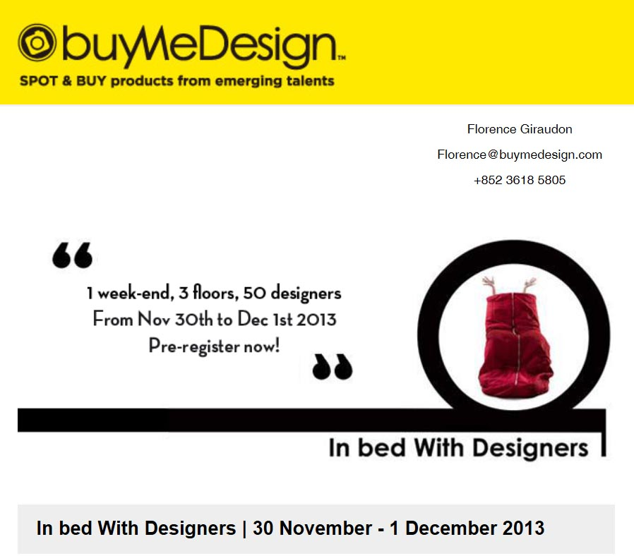 Nov 30 -Dec 1:In bed with designers