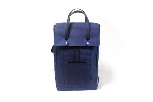 Waxed Canvas Backpack - Han Blue