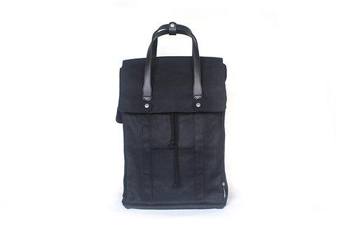 Waxed Canvas Backpack 2.0 - Black