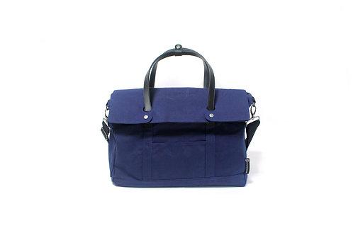 Waxed Canvas Messenger Bag - Han Blue