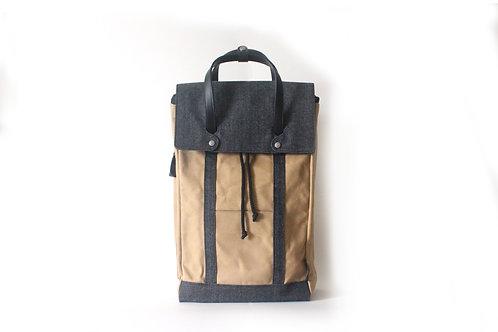 Denim & Waxed Canvas Backpack