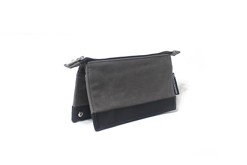 Waxed Canvas Travel Pouch - Grey