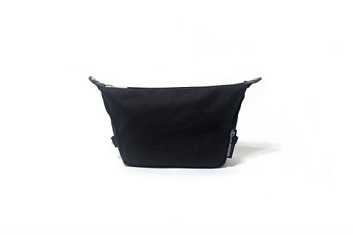 Waxed Canvas Essential Pouch - Black