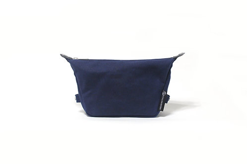 Waxed Canvas Essential Pouch - Han Blue