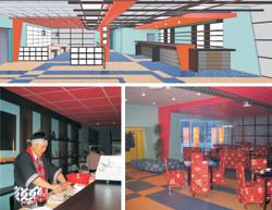 The Interior Design of The Sushi Restaurant