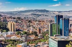 Bogota Skyline cityscape in Bogota capit