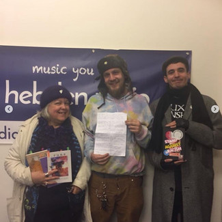 Eileen Wright,  Microphone Jack and Keiron Higgins.