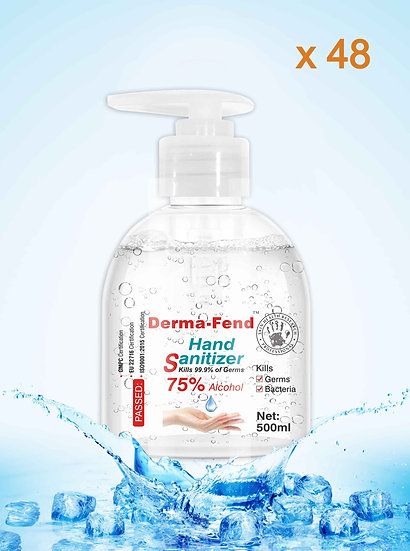 2 Cartons Derma-Fend Aloe Hand Sanitizer 500ml  (48 bottles)