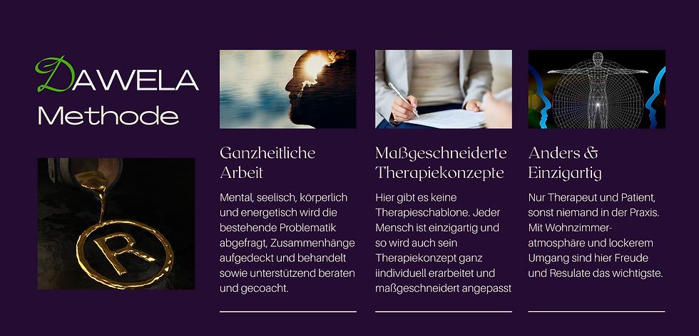 DAWELA patentiert, ganzheitliche, maßgeschneiderte und Einzigartige med. Behandlungen