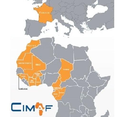 Liste des pays dans lesquels CIMAF (Ciments de l'Afrique) est implémentée.