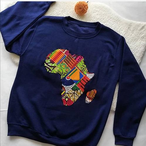 Navy blue Mama Africa sweatshirt