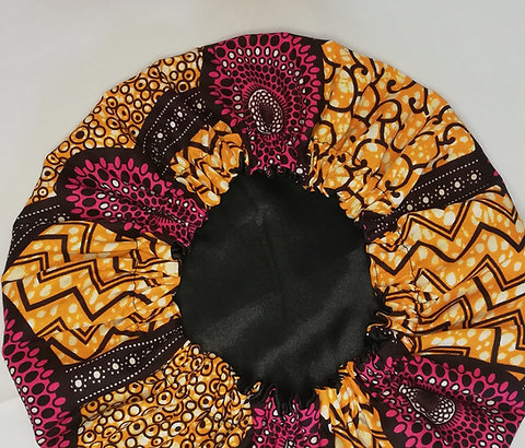 Satin lining hair bonnet