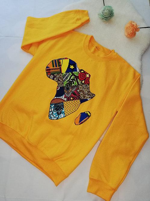 Yellow Mama Africa sweatshirt
