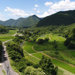天栄村航空写真