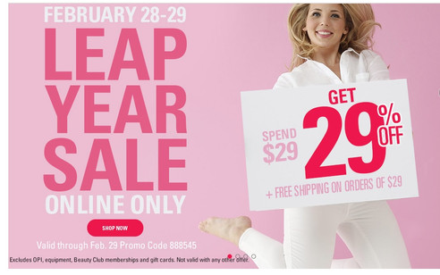 Two Days Only Save 29% Online at Sally's