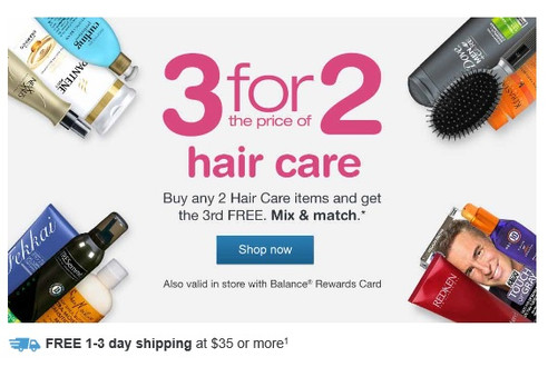 3 for 2 Hair Care Sale going on now at Walgreens!