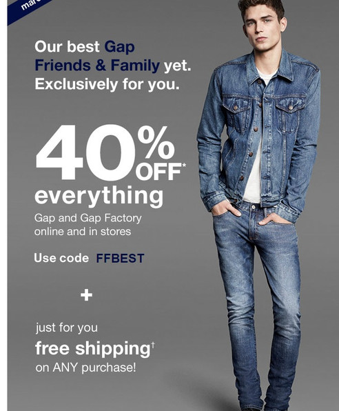 Gap's Friends & Family Sale is one you won't wanna miss!!