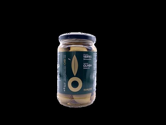 Bio grüne Oliven entkernt - 370g