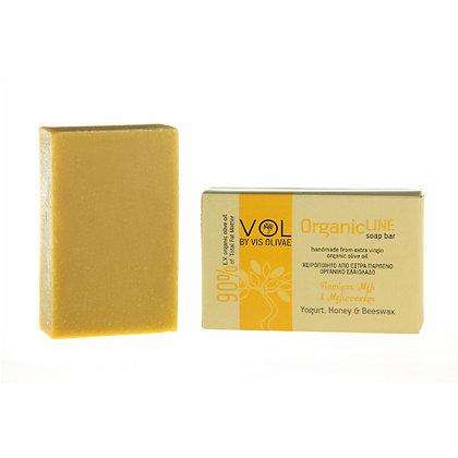 "Bio Olivenöl Seife ""Yoghurt, Bienenwachs & Honig"" 90g"