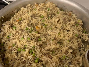 Keema Pilau with Peas by Shabnam Khizer