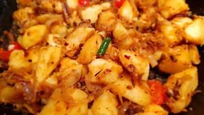 Sri Lankan Devilled Potatoes by Sharmonth Jayasinghe