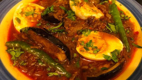 Aubergine and Egg Curry by Shams Razzak