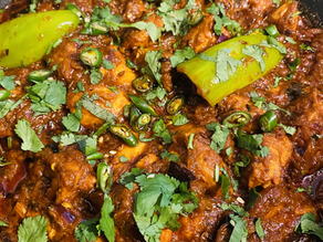 Chicken Bhuna with cardamoms and cloves by Shai Ayoub.