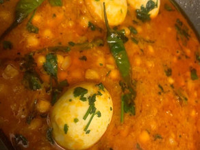 Chickpeas and Egg Curry by Shai Ayoub