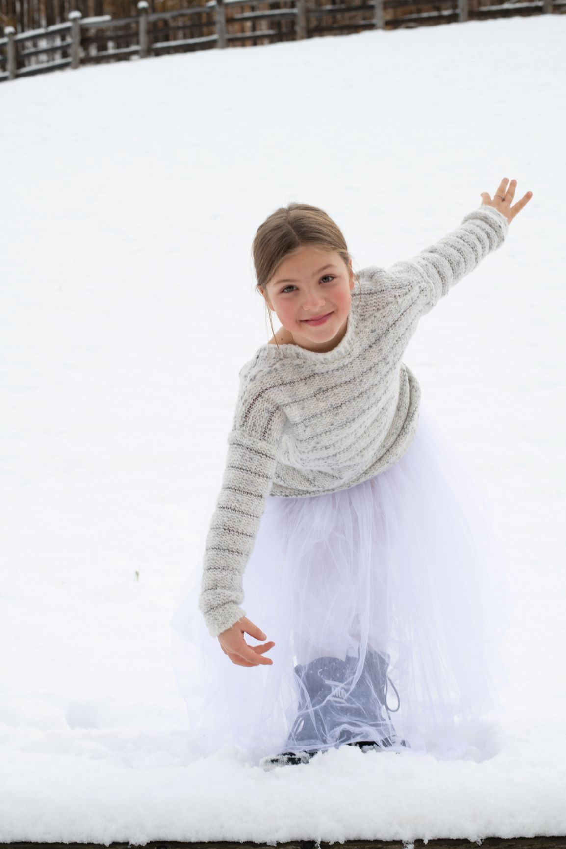 Ballerina - Révérénce in Snow 2 - Photo © Daniela Brugger