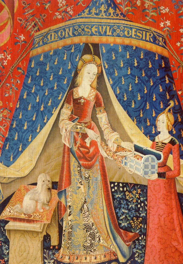 The Lady and the unicorne -  Tapestry Cycle is the title of a series of six Flemish tapestries depicting the senses - late 15th century