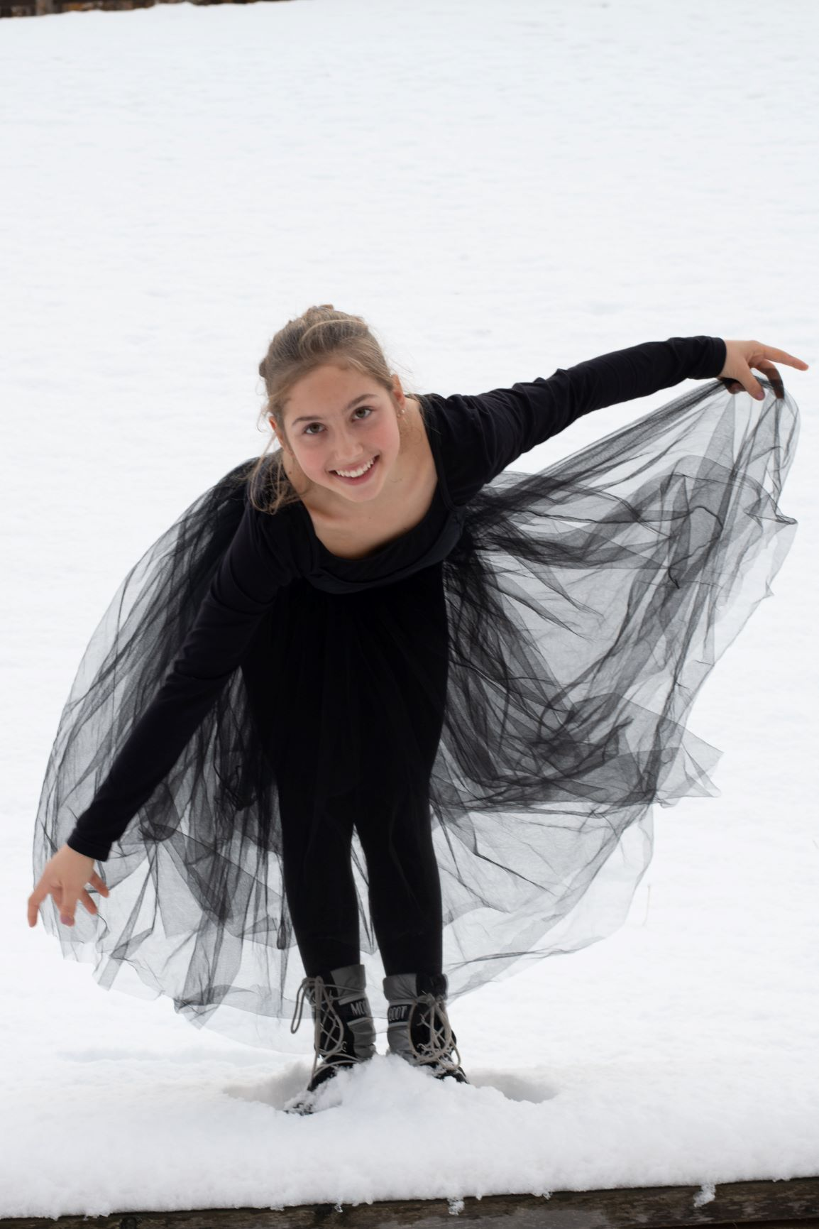 Ballerina - Révérénce in Snow 3 - Photo © Daniela Brugger