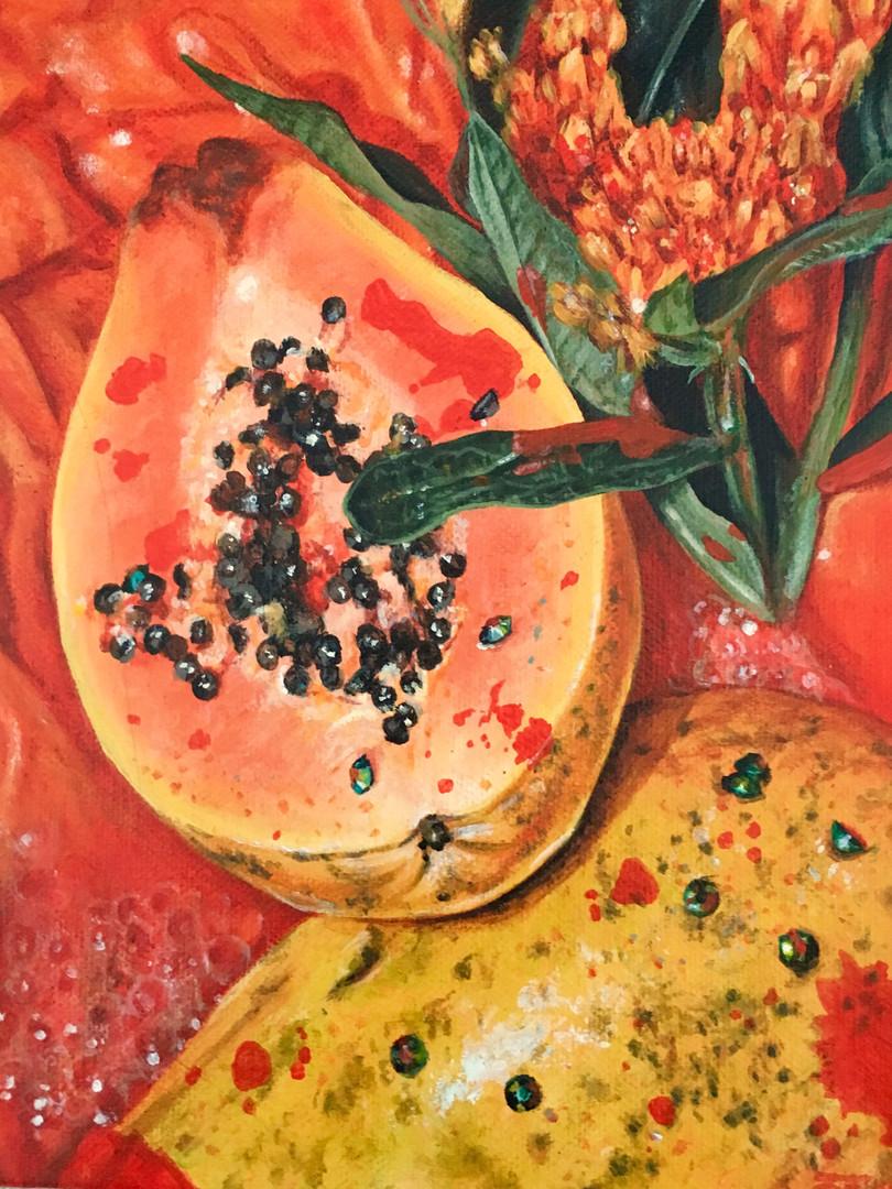 Triptych (Papaya)