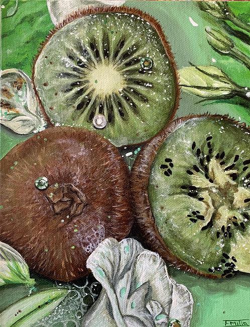 'Triptych (Kiwi)' Original Painting