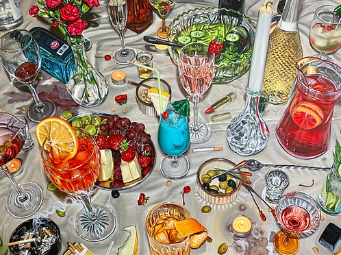 'Cocktail Party' Original Painting