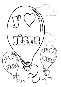 coloriage ballon jesus