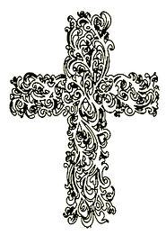 coloriage croix