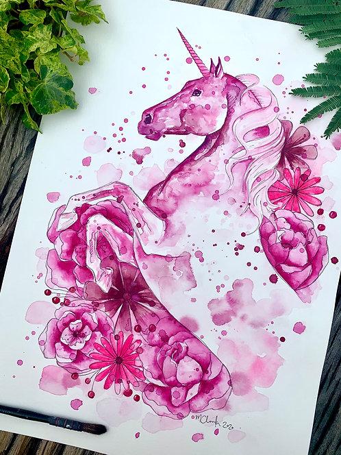 A3 Pink Unicorn