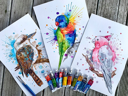 3x Australian Birds