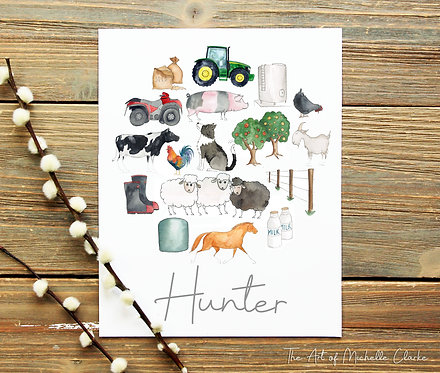 Personalised Farming Print