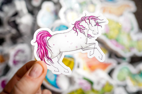 Pink Unicorn Sticker