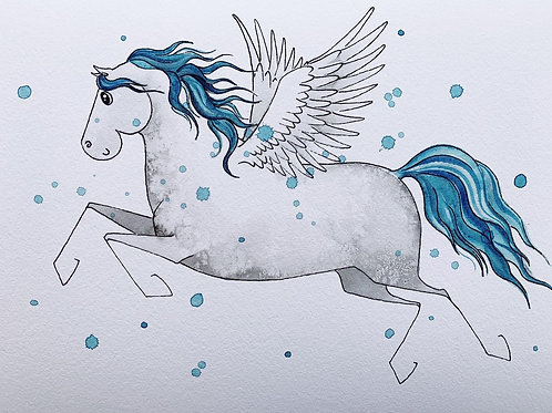 Blue Pegasus Print