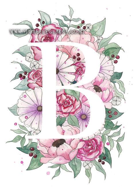 Letter Florals - Pink