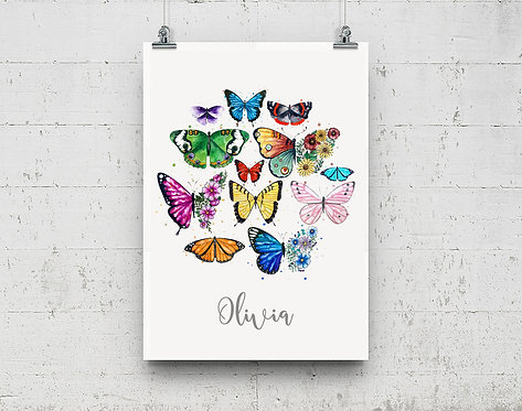 Personalised Butterfly Print