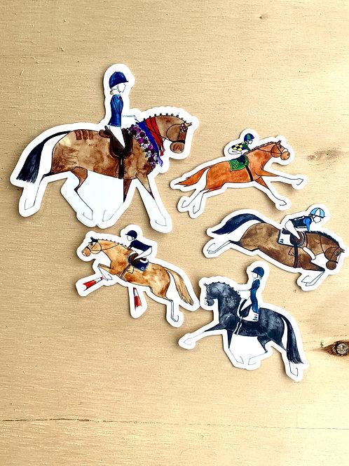 5x Horse Sticker Bulk Pack