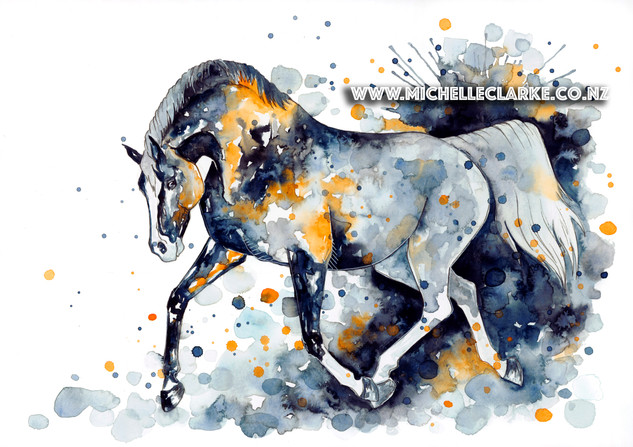 Michelle Clarke Horse orange black copy.