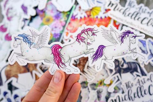 Unicorn Trio Sticker