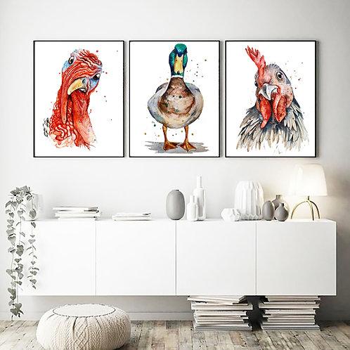 Underwhelmingly Common Eating Birds - The Trio